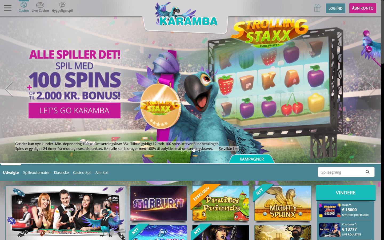 Karamba Casino Startside