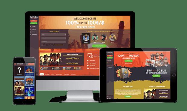 spille i online Guns Bet casino på mobiltelefon