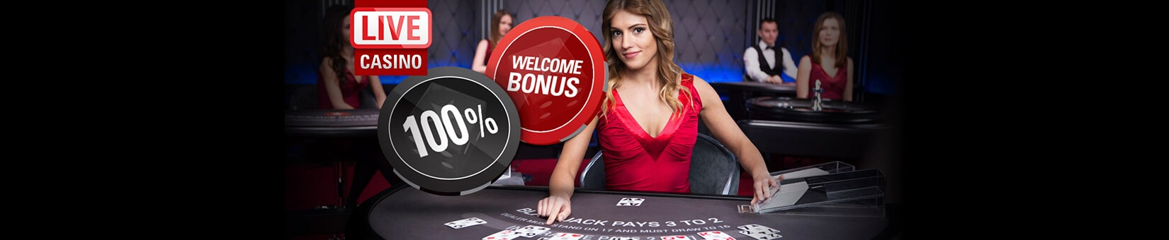 bonus i online casino Live Dealers